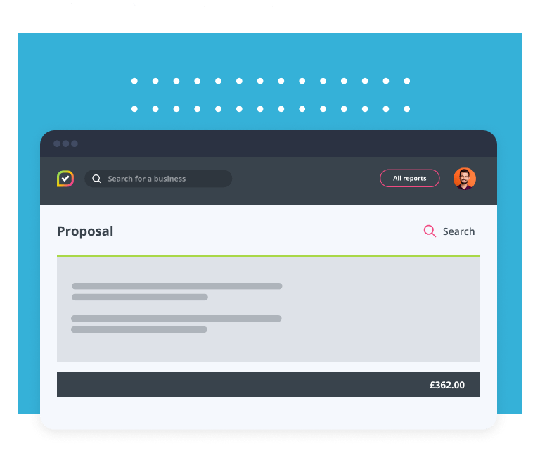 Insites dashboard showing a proposal