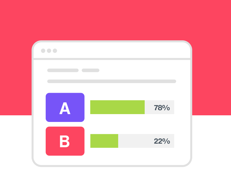 An image showing the results of A/B testing